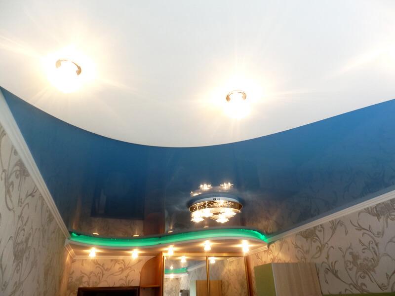 Фото из галереи - натяжной потолок в детской