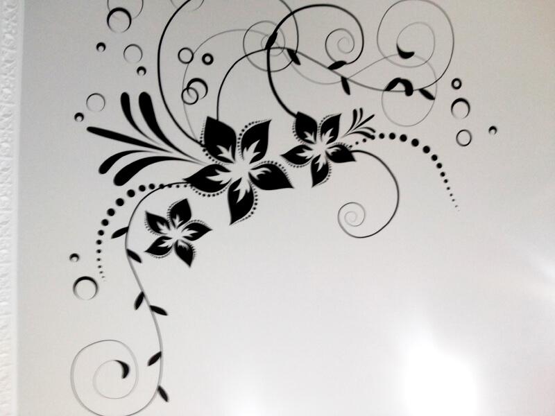 Фото из галереи - натяжной потолок с фотопечатью