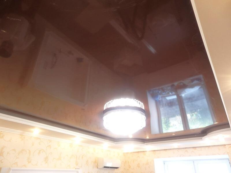 Фото из галереи - натяжной потолок гостиная