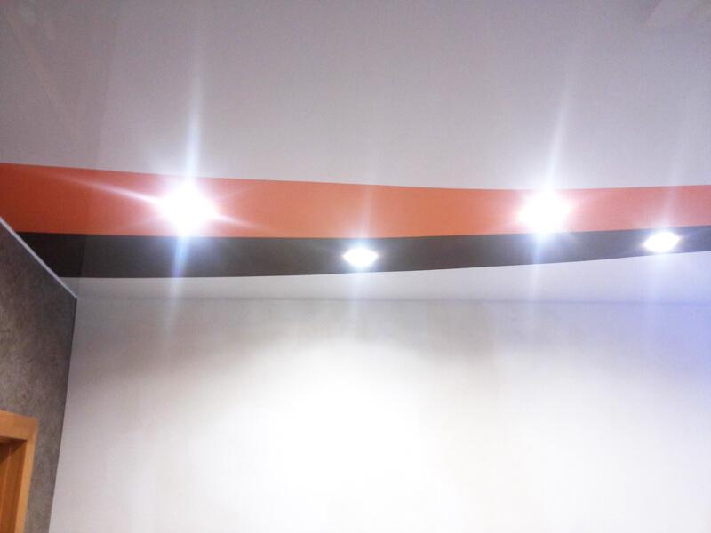 Фото из галереи - комбинированный натяжной потолок