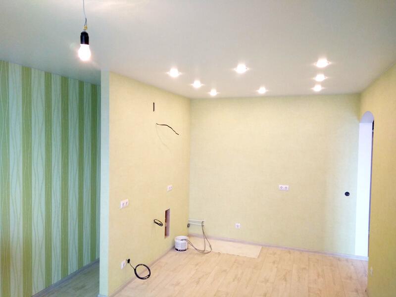 Фото из галереи - натяжной потолок для кухни