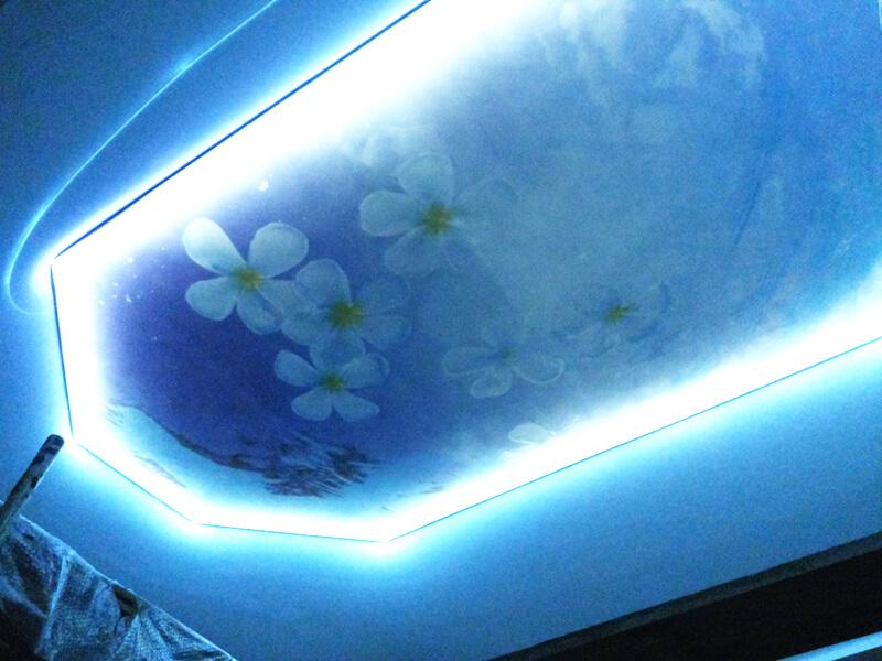 Фото из галереи - натяжной потолок парящий