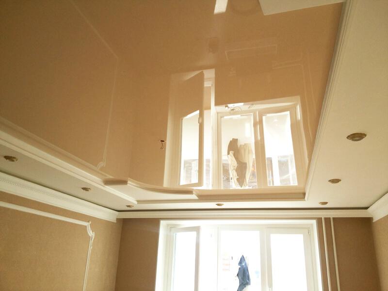 Фото из галереи - натяжной потолок для спальни