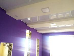 Натяжной потолок кухня-гостиная