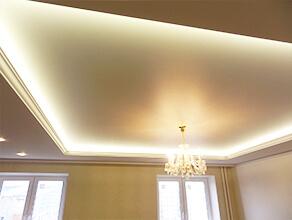 Натяжной потолок парящий с подсветкой